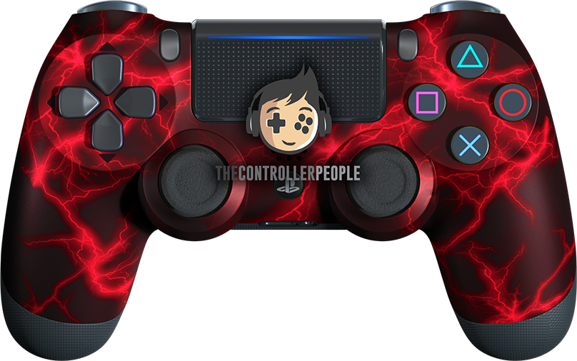 Red Lightning PS4 Controller