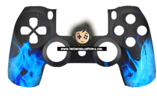 Blue Flames PS4 Controller