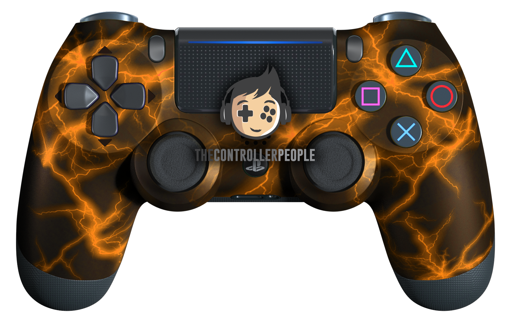 Orange Lightning PS4 Controller