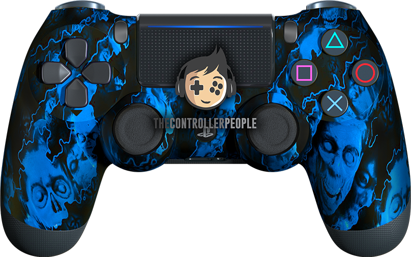 Blue Zombie PS4 Controller